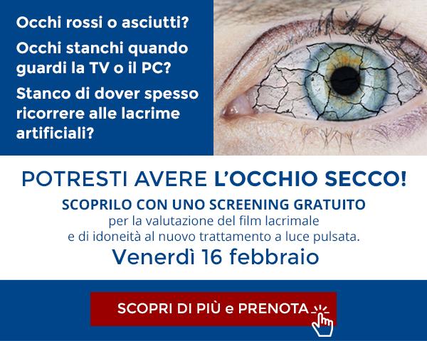 Screening occhio secco 16 febbraio milano